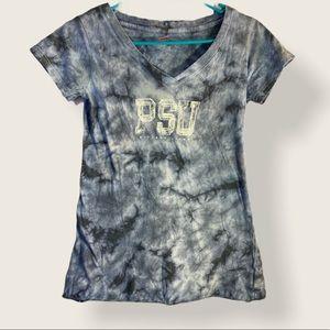 Soffe PSU Short Sleeves Blue Tie Dye VNeck T-Shirt